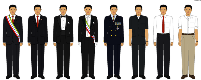 Selection of President Sugiartama's Civilian Dress by HonourableArthur