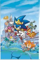Sonic Universe 8 cover by Yardley
