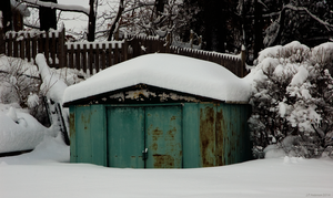 Old Winter Shed by jackthetab