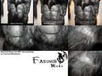 Werewolf body-suit WIP 6: hair-punching stage by Farumir