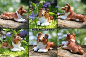 Sculpture -Shetland Sheepdog by Bafa