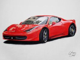 Drawing Cars 2 - Ferrari 458 Italia by f-a-d-i-l