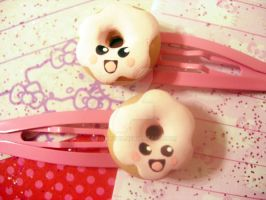 Happy Donut Hair Clips by pinkDudu