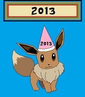 Happy New Years EEVEE! by PumawithaPC