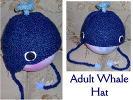 Adult Whale Hat by ayellowsubmarine