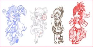 Freebie Chibis 2 by BuuWho