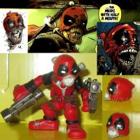 Zombie Deadpool Headpool Custom Super Hero Squad by Deadpoolandfriends