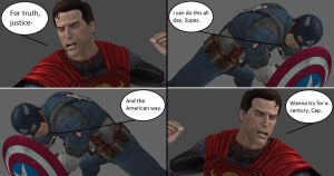 Injustice: Superman vs Captain America by xXTrettaXx