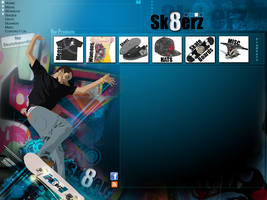 Sk8erz.com WIP by fireproofgfx