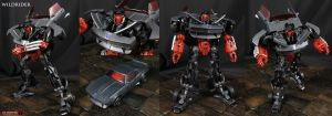 Wildrider Stunticon custom AoE Movie figure by Jin-Saotome