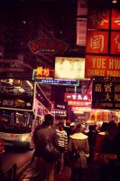 City street somewhere in Hongkong by shortyday