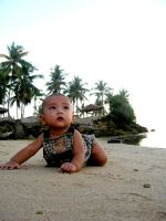 Baby and the Beach by LacerationLove