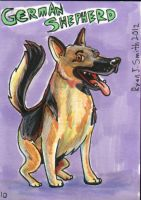 ACEO Dog 10: German Shepherd by ronnieraccoon