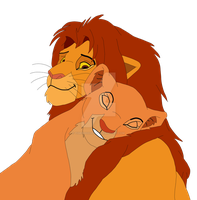 Simba and Nala Colored - Updated by Tiffani-Amber