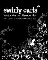 Swirly Curls - Vector Garden by namespace