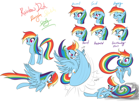 Rainbow Dash Rough Study by Reikomuffin