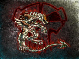 Skeleton dragon with Terror by bioniclefusion