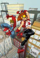 Arana and Spiderman by RossHughes