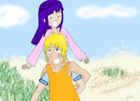 NaruHina at Beach by Retarded-Rooster