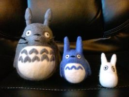 Totoros Trio by CreationsbyFrost