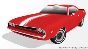 Muscle Car Vector by criscracker