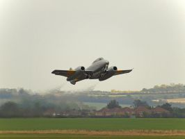 Gloster Meteor T7 Departure by davepphotographer