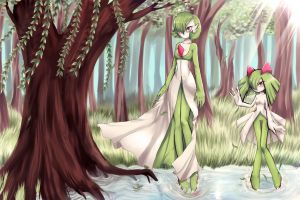 Guardians of the Forest-guardevoir - kirlia by IndI-Art