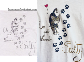 Cat tee by LauraMSS