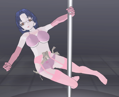 Touko Koromogae pole dance by quamp