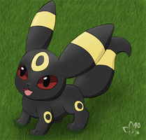 Umbreon Pup by pichu90