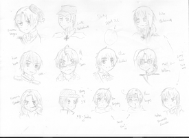 Official Sketch of 2p!HetaOni Major Characters xD by Akiraka-chan