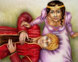 Arthur and Guinevere by Greenticky