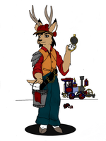 Somewhat Steampunk (get back to work...) by SilverwolvesForever