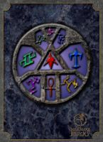 Stained Glass Sigil Wheel 2 by GothicPrincess1974