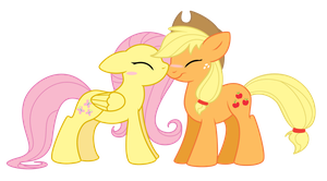 SiM: Applejack + Fluttershy by Selective-Yellow