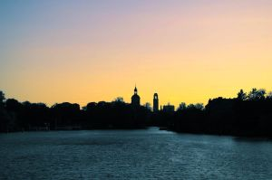 Eiswerder - View to the historic district Spandau by JustAnOrdinaryLife