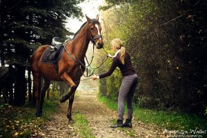 61_Iwona and horse Bystry by agu-incredible