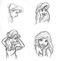 Ariel Sketches by ledeir15