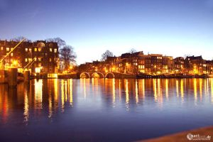 Amsterdam by night by narisign