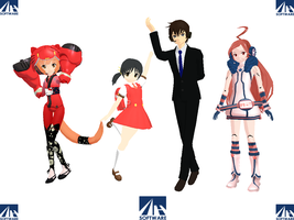 MMD We Are AH-Software by GalaxyGuild