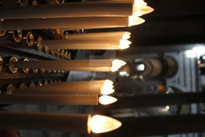 Candles in Pisa Cathedral by deahlateM