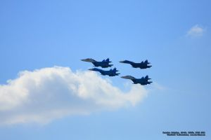 Russian Knights, SU-27, N0065 by Starling-AW