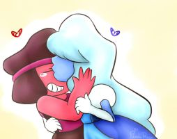 Ruby and Sapphire redraw by red-blackPandaRose