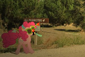 Pinkie Pie the Prankster by UtterlyLudicrous