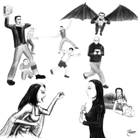 Munsters v Addams -In progress by Zaiburst