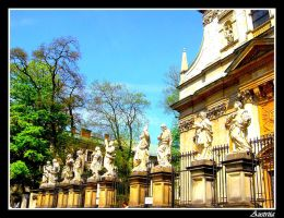 Statues in Cracow by Austriia
