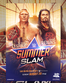 WWE Summerslam 2017 Poster by WWESlashrocker54