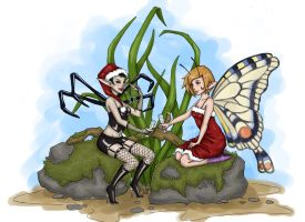 Spider and Butterfly by x-Uchiwa-x
