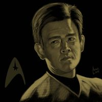 Star Trek portrait series 05 - Sulu - Cho by jadamfox