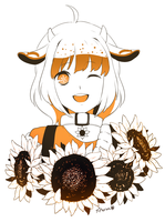 Deer Sunflower by chisacha